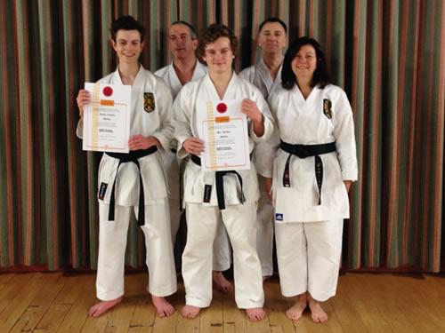 Ben and Joseph receive their Shodan certificates November 2014