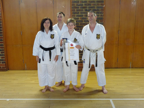 Owen receiving his Shodan