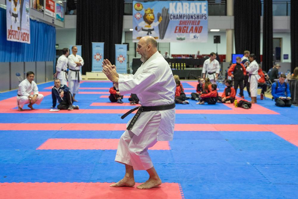 Knebworth karate club at AMA Sheffield 2020