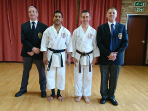 Nigel Black belt grading with Graham